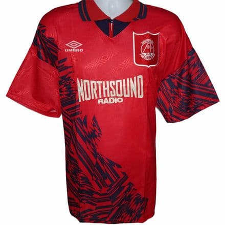 1994-1996 Aberdeen Home Football Shirt Umbro XL (BNWT)